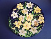 Superb Maling Embossed 'Daffodil' Wall Plaque c1947